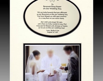 Wedding  Priest  Pastor Reverend Thank You gift from Bride and Groom personalized