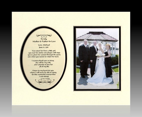 Wedding Mother and Father In Law Personalized Gift wedding favor from groom bride