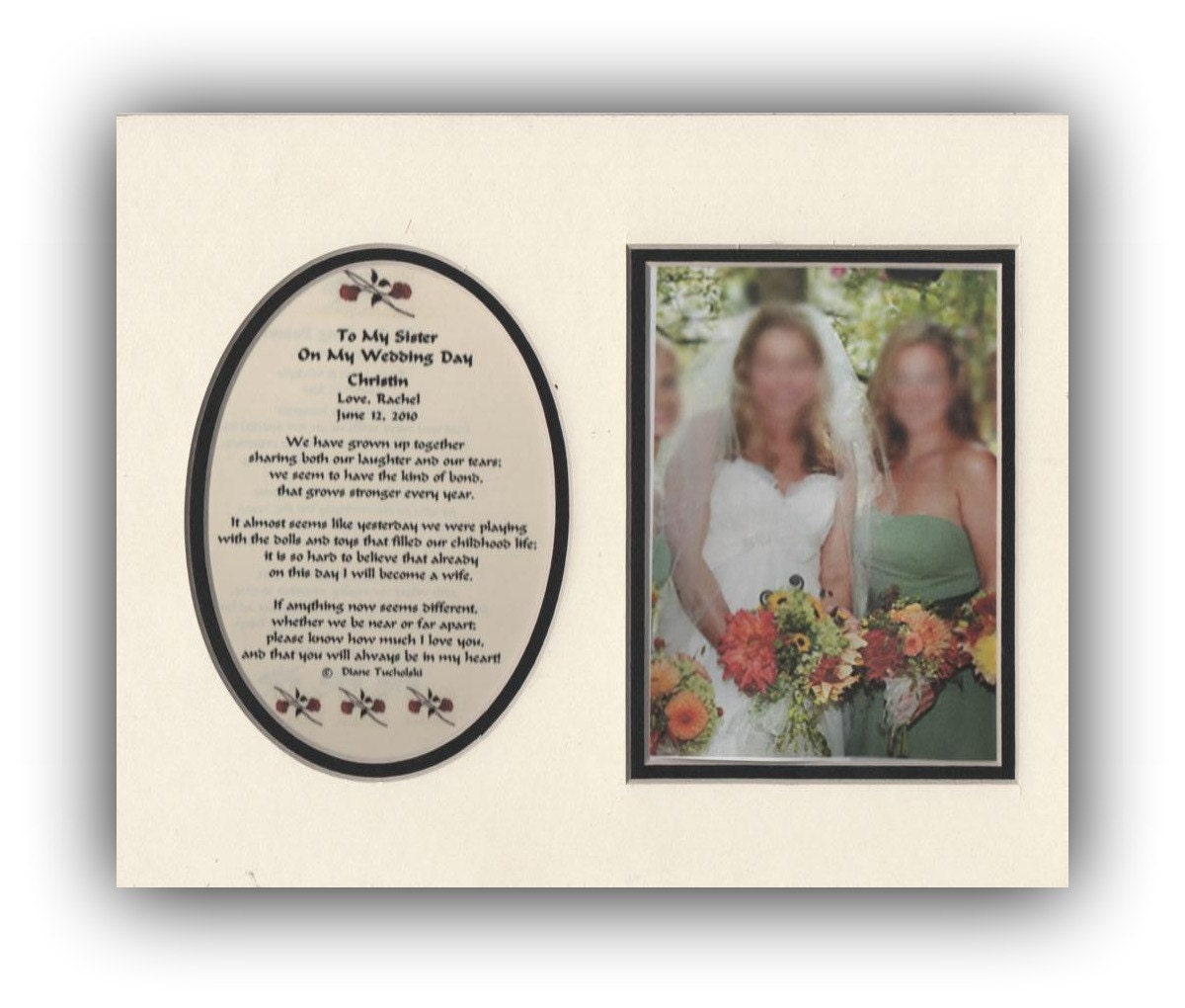 Wedding Gift To Sister : ... similar to To My Sister On My Wedding Day Bridal Gift Favor on Etsy