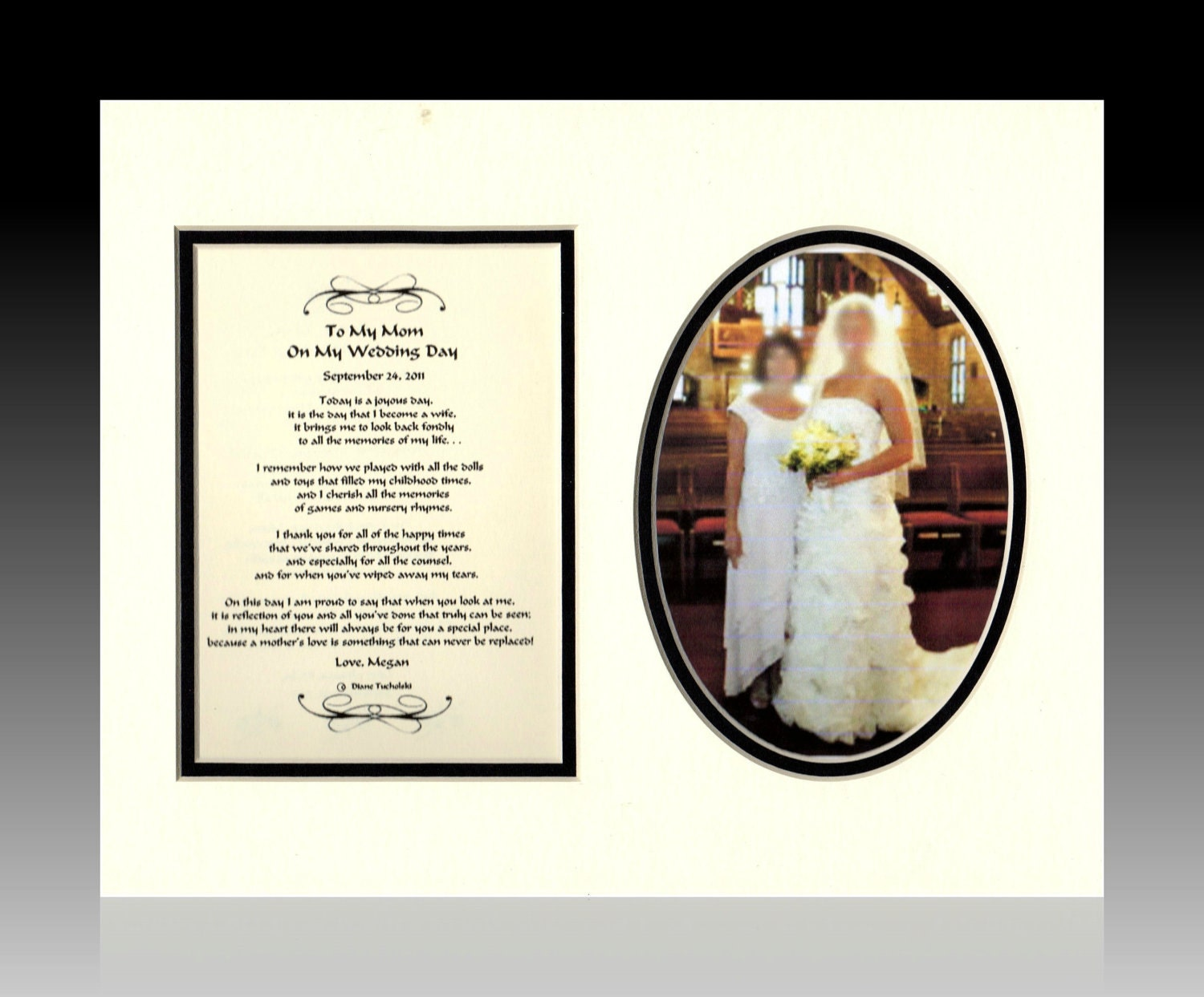 Wedding Keepsake Gifts For The Bride : Wedding Mother of The Bride Gift Personalized To My Mom on My