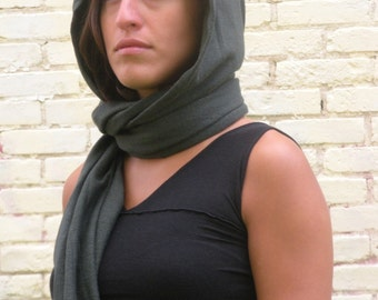 Jillian Hooded Scarf ~ Hemp and Organic Cotton ~ Made to Order
