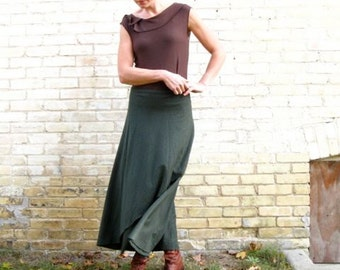 Organic Cotton & Hemp Long Wrap Skirt