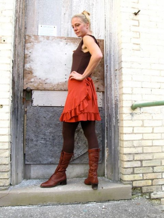 Primrose ~ Ruffled Wrap Skirt ~ Bamboo & Organic Cotton ~ Made to Order