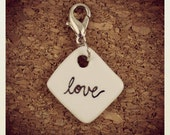 Love - Tiny Ceramic Charm