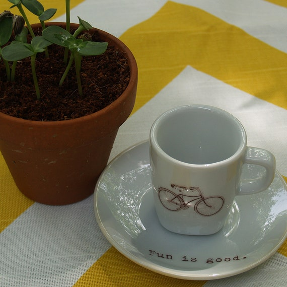 Upcycled Espresso Cup - Fun is Good