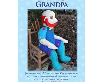 Grandpa Soft Doll Sewing Pattern