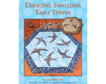Dancing Swallows Table Topper Sewing Pattern