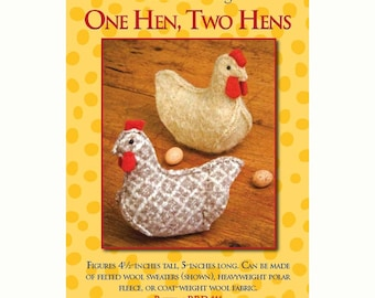 One Hen, Two Hens sewing pattern