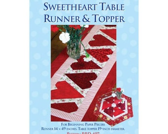 Sweetheart Table Runner and Topper Sewing Pattern
