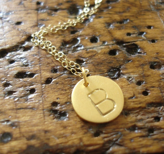 Gold Vermeil Initial Necklace