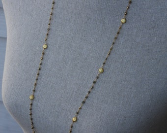 AAA GORGEOUS Pyrite and Gold Filled Necklace