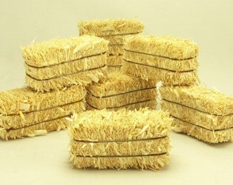 "Miniature 2"" Hay Bales set of 6 miniature hay diorama dollhouse craft project -  p/n 101-0802"