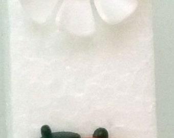 Pinwheel Flower Ladybug - White - (203-3-9WB-W)