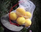 Red Eco Friendly Produce Bags Set of 3