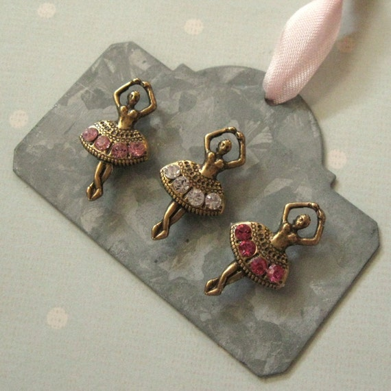 Tiny Dancers - Sparkling Rhinestone Ballerina Magnets