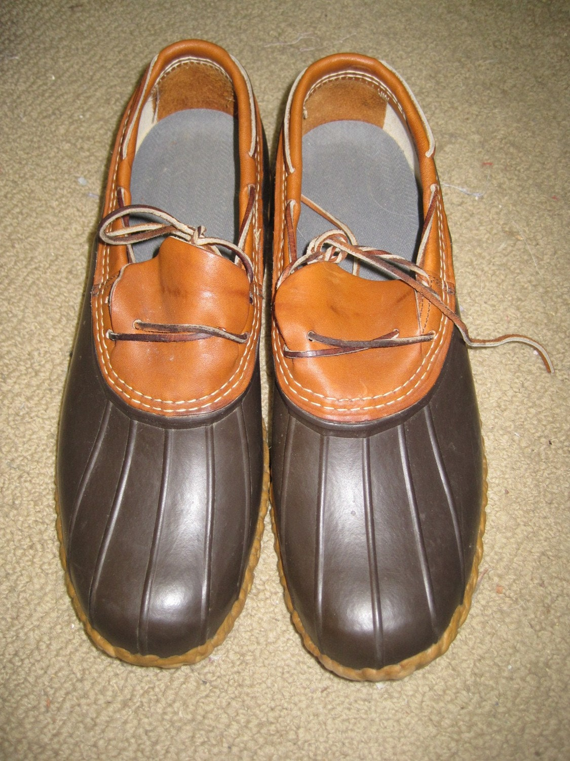 mens 13 vintage ll bean boots shoes brown by