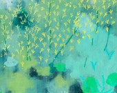 archival fine art giclee print . semi abstract landscape . kangaroo paw . a4-a1, 4 sizes
