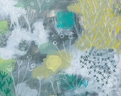archival fine art giclee print . semi abstract landscape . grasses