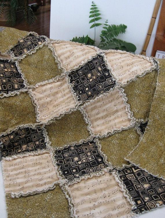REDUCED - Desert Melody II - a rag quilt