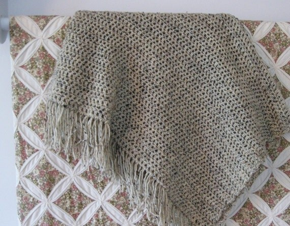 RESERVED for shaunasalmon - An Elegant Crocheted Throw, Shawl or Baby Blanket