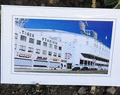 2 Card Set Old Detroit Tiger Stadium Photography Baseball Blank Photo Greeting Card Set Blue, White, Green,The End of An Era