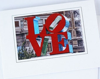 2 Love Cards, Love Sign, Valentines Day Card, Love Park, Blank Card, Note Card, For Her, For Him, For The Special, Person In Your Life