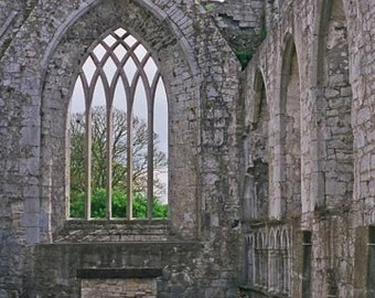 Irish Photography Ireland Abbey Askeaton Abbey Irish Decor 8x10 Gray And Green Fine Art Photo Apartment Decor Irish Architecture Wall Decor