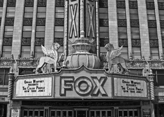 Fox Theater Detroit Photoraphy Black And White Michigan 5 X 7