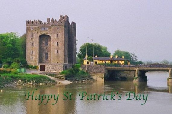 St Patricks Day Card Saint Patricks Day Card Irish Card Bunratty Castle Ireland Blank Fine Art Photo Greeting Note Card