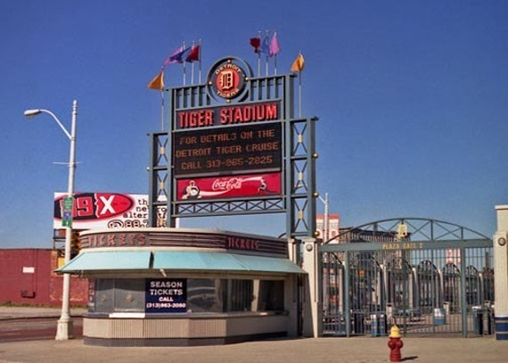 Tiger Stadium Detroit Sports Photograph Ticket Office Man Cave Boys Room Decor Landscape Detroit Baseball Detroit Photography End Of An Era