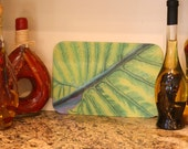 Green Leaf Kitchen Trivet - Cutting Board - Hot Plate - Serving Plate