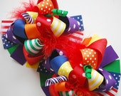 boutique FUNKY fun RAINBOW COLLECTION hair bow clips
