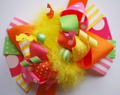 boutique FUNKY fun SUNNY days hair bow clip