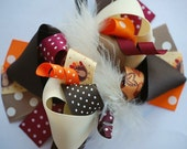 boutique THANKSGIVING FUNKY FUN hair bow clip