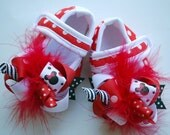boutique FUNKY fun RED MINNIE crib shoes