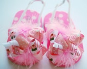 boutique CUPCAKE FUNKY FUN flip bow bow sandals