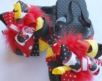boutique FUNKY fun MOUSE GIRL flip flop sandals