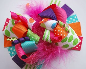 boutique FUNKY fun lets CELEBRATE hair bow clip