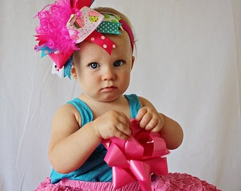 boutique CUPCAKE over the top headband bow