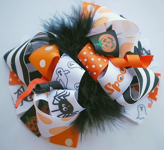 boutique CLASSIC HALLOWEEN FUNKY fun hair bow clip