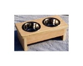 Raised cat dish bowl feeder 4 inches tall no cost for pet names
