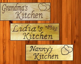 Personalized Grandmas Kitchen Signs Or Use other Names