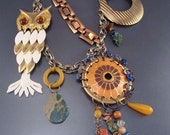 SALE Inspiration Circle Owl Pendant Necklace Originally 354 Dollars
