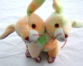 CONJOINED STUFFED BUNNY