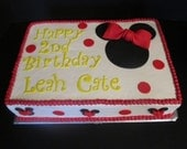 Minnie Mouse inspired Fondant Cake Toppers  Complete Set For Sheet Cake