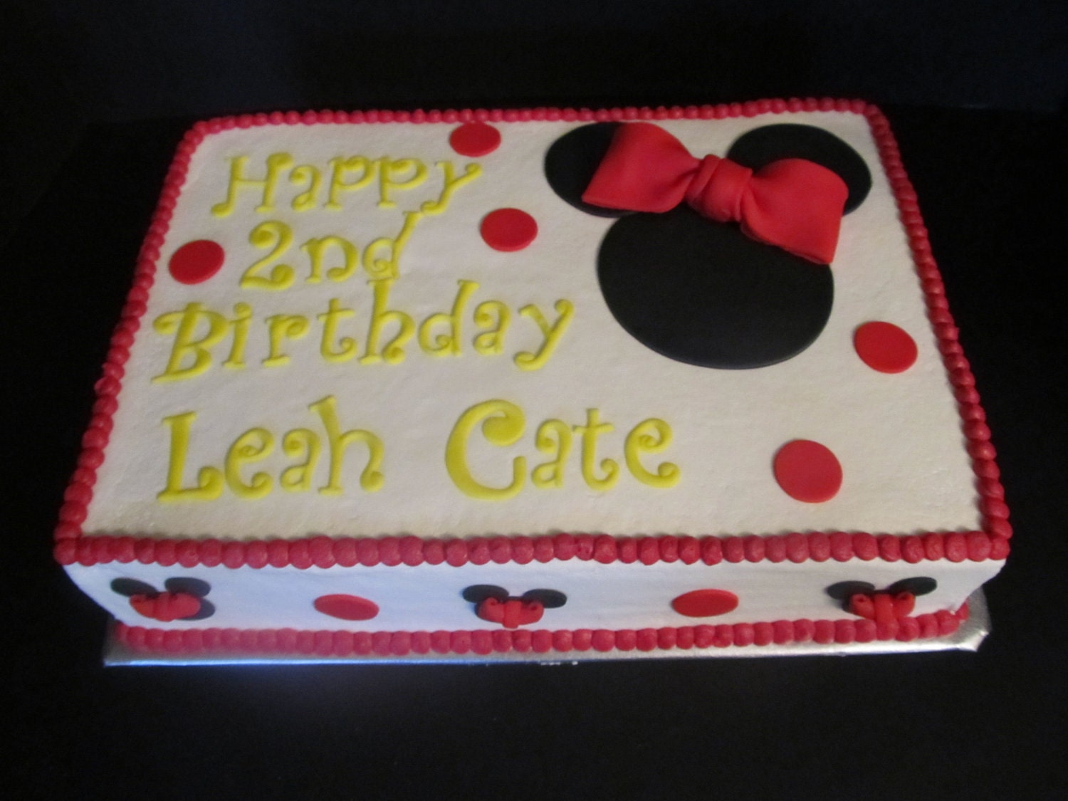 Minnie Mouse Sheet Cake Images : Minnie Mouse inspired Fondant Cake Toppers Complete by ...