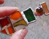Jeweled Windows - Stained Glass Hair Clip with Fusing - Medium Sized