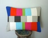 Graphic Throw Lumbar Pillow - Testing...Testing