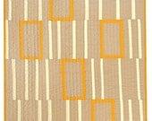 Graphic Modern Crib Quilt - Orange Boxes