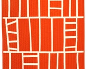 Contemporary Small Quilt - Tangerine Ladders